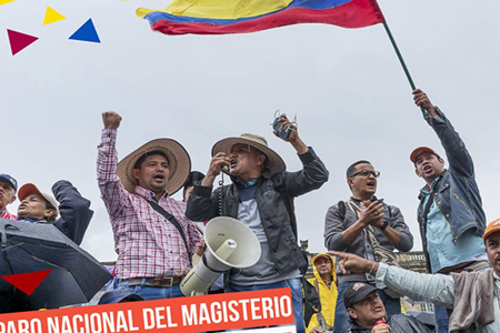 Demonstratie Colombia 2017
