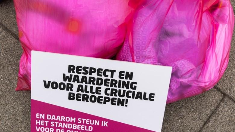 Textielwassers in Emmen sluiten zich aan bij acties